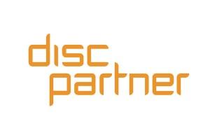 Disc Partner | Logo, weiss